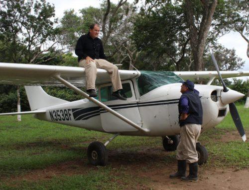 With my friend, Pilot Steven Wilson. Bolivia